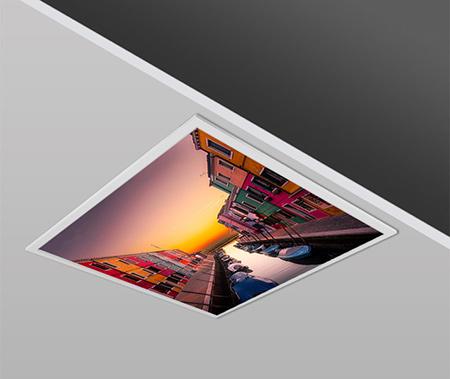 40W 60x60 Slim RIVER Design Backlight Panel Luminaires PANA
