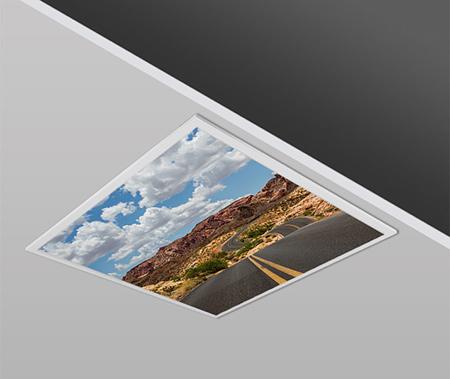 40W 60x60 Slim ROAD Design Backlight Panel Luminaires PANA