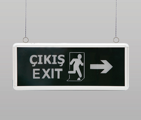 6W Exit Sign Eco Model Emergency Lighting EASY